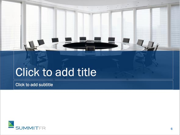 Custom Power Point Theme for Summit Financial Resources