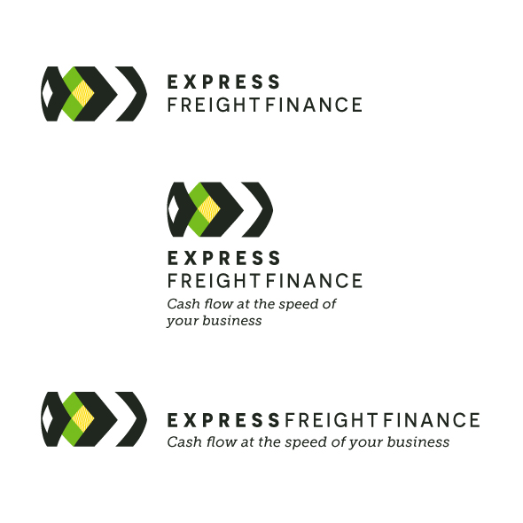 Logo Identity Design for Express Freight Finance left lockup