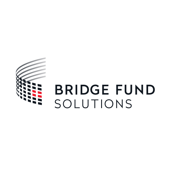 Logo Identity Design for Bridge Fund Solutions left lockup