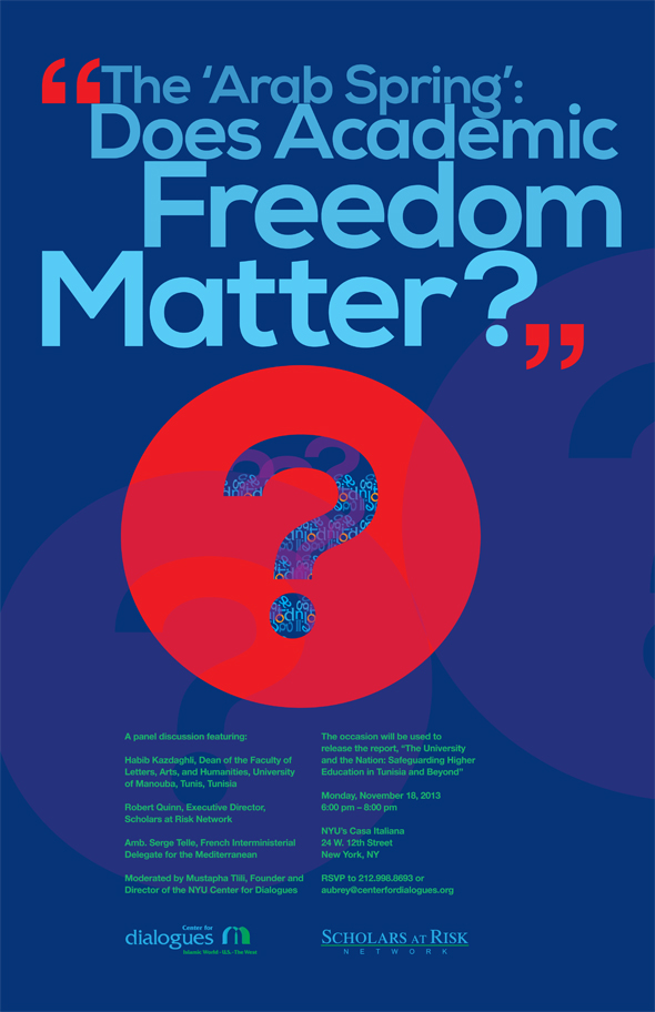 Poster Design: Arab Spring | Does Academic Freedom Matter?