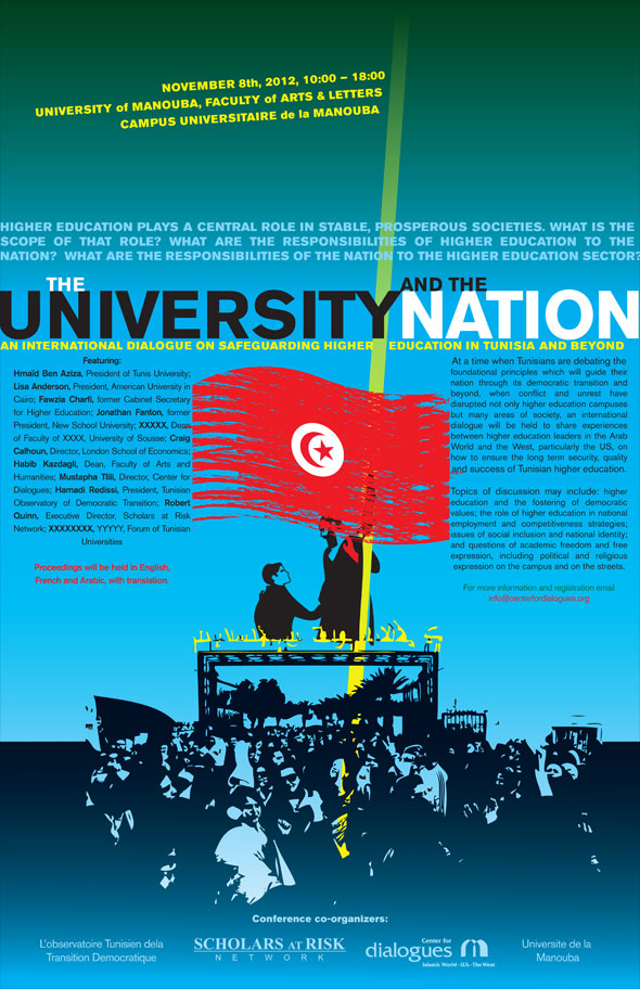 Poster Designs for the University and the State Conference in Tunisia
