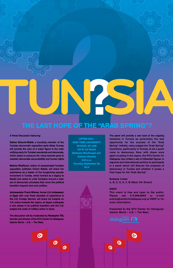 Poster Design: TUNISIA, LAST HOPE OF THE ARAB SPRING