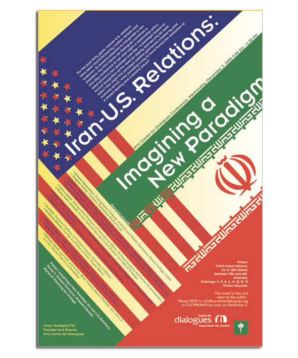 Poster Design: Conference on Iran and the US