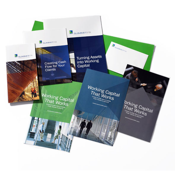 Print Collateral Design and a Suite of Brochures for Summit