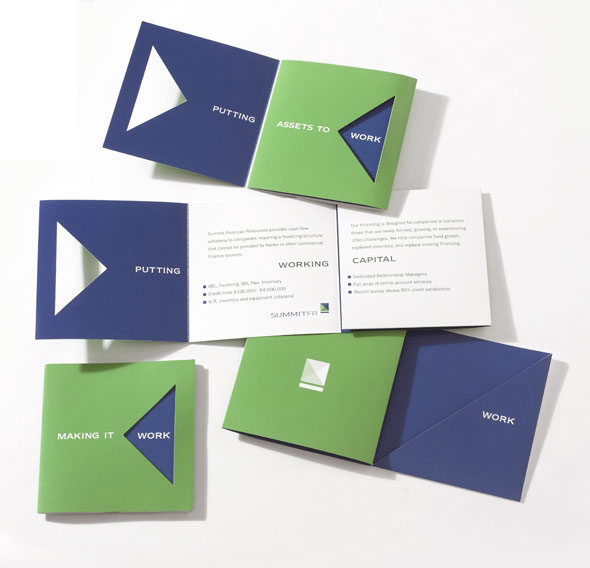 Direct Mail Dye Cut Brochure for Summit Financial