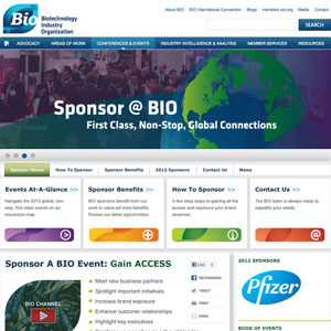 Website Design for BIO's Drupal Website