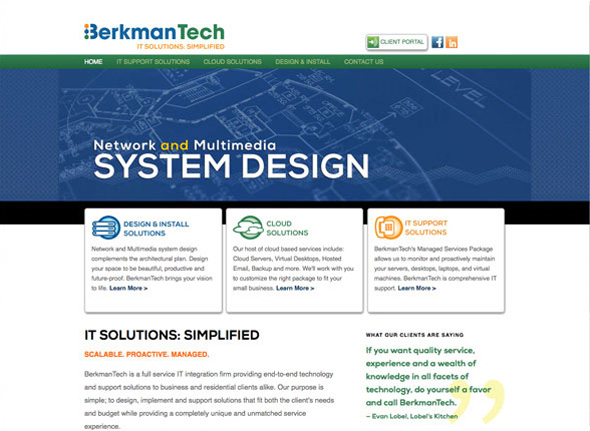 Custom WordPress Blog & CMS for BerkmanTech IT Solutions