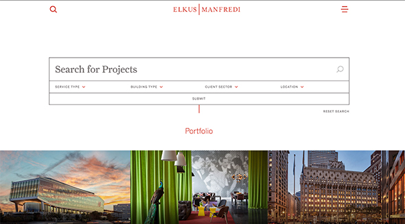 Custom WordPress CMS for Elkus Manfredi Architects