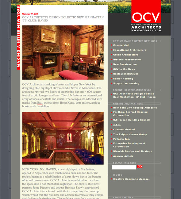 CCustom WordPress Blog for OCV Architects