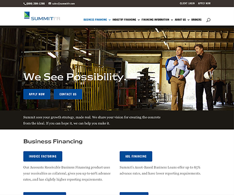 Custom WordPress CMS for Summit Financial Resources