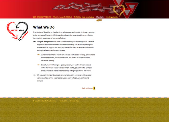 Website for Give Way To Freedom