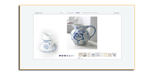Website Design for HOME605 Daylight Location Studio